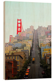 Wood  San Francisco and Golden Gate Bridgee - John Morris