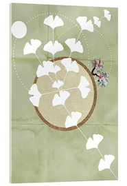 Acrylic print  GINGKO TREE BY 5 CLOCK EARLY - Sabrina Alles Deins