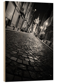 Wood print  Galata Tower at night, Istanbul - gn fotografie