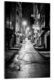 Acrylic print  a dusky street at night in Istanbul - Turkey - gn fotografie