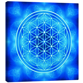 Canvas  Flower of Life - Archangel Michael - Dolphins DreamDesign