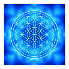 Premium poster  Flower of life - archangel Michael - Dolphins DreamDesign