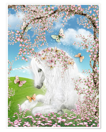 Premium poster  Dreamy unicorn - Dolphins DreamDesign