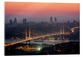 Acrylic glass  Bosporus-Bridge at Night (Istanbul / Turkey) - gn fotografie