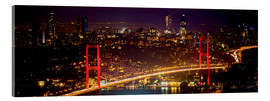 Acrylic glass  Bosporus-Bridge at night - red (Istanbul / Turkey) - gn fotografie