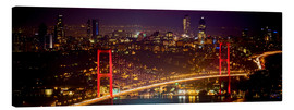 Canvas print  Bosporus-Bridge at night - red (Istanbul / Turkey) - gn fotografie