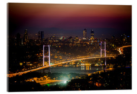 Acrylic glass  Bosporus-Bridge at night - pink (Istanbul / Turkey) - gn fotografie
