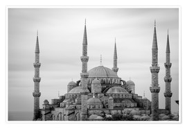 Premium poster  the blue mosque in Istanbul / Turkey - gn fotografie