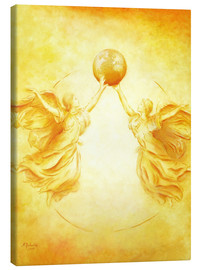 Canvas  Angel picture - Guardian Angel of the Earth - Marita Zacharias