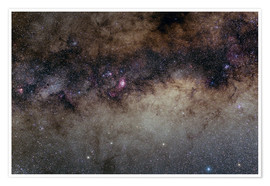 Premium poster The Heart of the Milky Way - Constellation Sagittarius