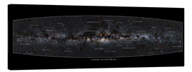 Canvas  Milky Way, labeled (english) - Jan Hattenbach