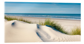 Acrylic print  Langeoog seascape with dunes and fine beach grass - Reiner Würz RWFotoArt