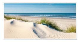 Premium poster  Langeoog seascape with dunes and fine beach grass - Reiner Würz