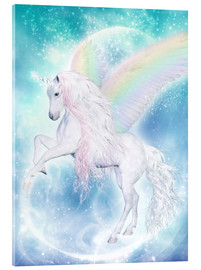 Acrylic glass  Rainbow Unicorn Pegasus - Dolphins DreamDesign