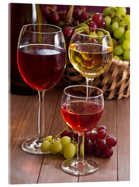 Acrylic print  Wine in glasses - Edith Albuschat
