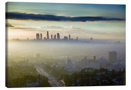 Canvas print  Los Angeles skyline in the morning mist - Walter Bibikow