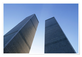 Premium poster  Twin Towers of the WTC - Sue Cunningham