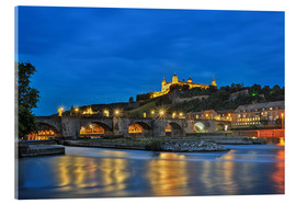 Fine Art Images - Fortress Marienberg Wurzburg at night