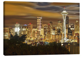 Canvas print  Nightly skyline of Seattle - Christopher Reed