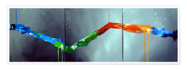 Premium poster  Colorful stripes 2 - Yannick Leniger