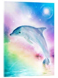 Acrylic glass  Rainbow Dolphin - Dolphins DreamDesign