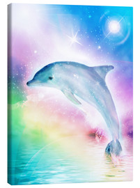 Canvas print  Rainbow dolphin - Dolphins DreamDesign