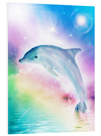Foam board print  Rainbow dolphin - Dolphins DreamDesign