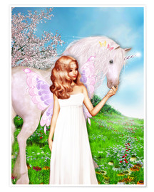 Premium poster Angel and Unicorn