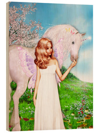 Wood  Angel and Unicorn - Dolphins DreamDesign