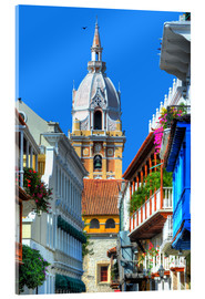 Acrylic print  Church in Cartagena, Colombia - HADYPHOTO