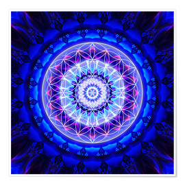 Premium poster  Mandala safety with flower of life - Christine Bässler