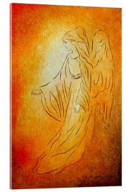 Acrylic glass  Angel of Healing - Angel Art - Marita Zacharias