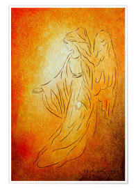 Premium poster  Angel of healing - Marita Zacharias