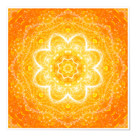 Premium poster  Mandala, the blessing - Dolphins DreamDesign