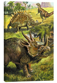 Canvas print  Dinosaurs - English School