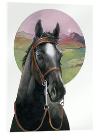 Acrylic print  Black Beauty - English School