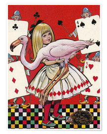 Premium poster  Alice in Wonderland - Jesus Blasco