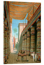 Acrylic print  Interior of the palace of an egyptian ruler - Dionisio Baixeras-Verdaguer