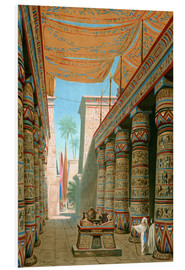 Foam board print  Interior of the palace of an egyptian ruler - Dionisio Baixeras-Verdaguer