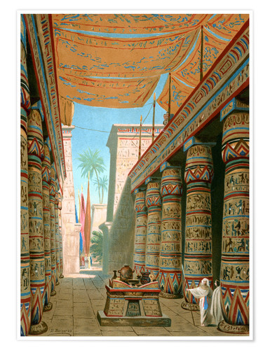 Premium poster Interior of the palace of an egyptian ruler