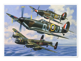 Premium poster  Spitfires - Wilf Hardy