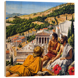 Wood print  Ancient Greece - Roger Payne