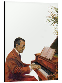 Aluminium print  Rachmaninoff playing the piano - Andrew Howat