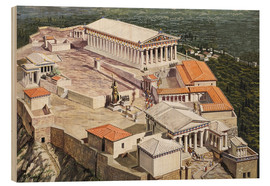 Wood print  The Acropolis and Parthenon - Roger Payne