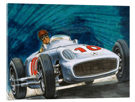 Acrylic print  Juan Manuel Fangio drives Mercedes-Benz - English School