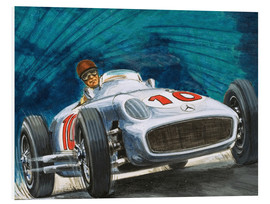 Foam board print  Juan Manuel Fangio drives Mercedes-Benz - English School