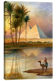 Canvas  The Great Pyramid of Giizeh - English School