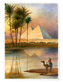 Premium poster  The Great Pyramid of Giizeh - English School