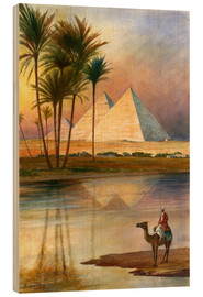 Wood print  The Great Pyramid of Giizeh - English School