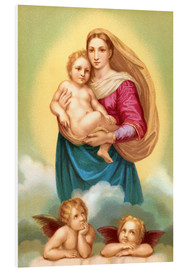 Foam board print  The Sistine Madonna - Raffael